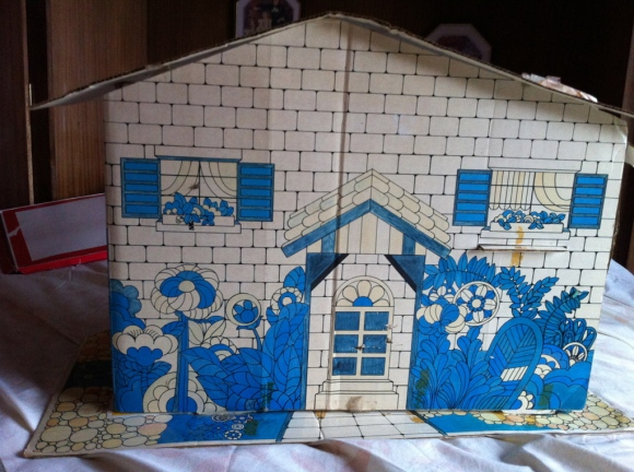Cardboard Doll's House from the Front